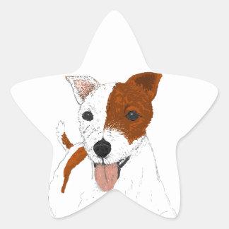 Jack Russell Terrier Star Sticker