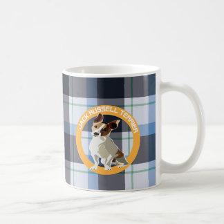Jack Russell Terrier Taza Básica Blanca
