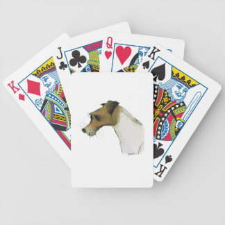 jack russell terrier, tony fernandes bicycle playing cards