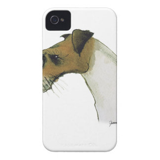 jack russell terrier, tony fernandes iPhone 4 Case-Mate case