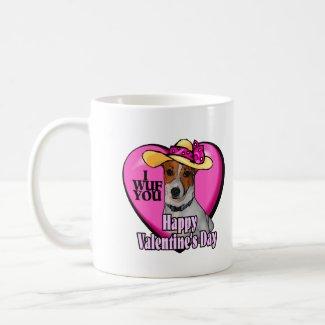 Jack Russell Terrier Valentines mug