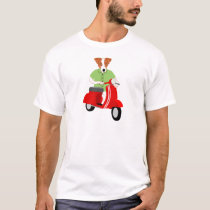 Jack Russell Terrier Vespa Scooter T-Shirt