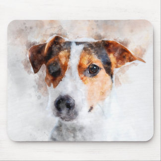 Jack Russell Terrier Watercolor Art Mouse Pad