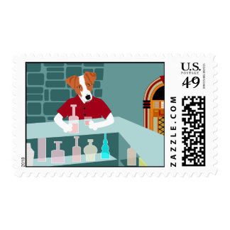 Jack Russell Terrier Whiskey Bar Stamp