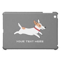 Jack Russell Terrier with Custom Text iPad Mini Cover