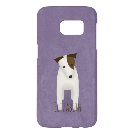 jack russell terrier with expressive head tilt samsung galaxy s7 case