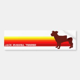 Jack Russell Terrier With Stripes Bumper Sticker Car Bumper Sticker