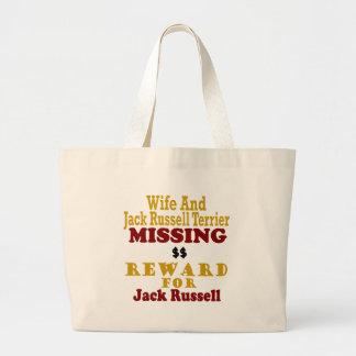 Jack Russell Terrier y recompensa que falta de la  Bolsa