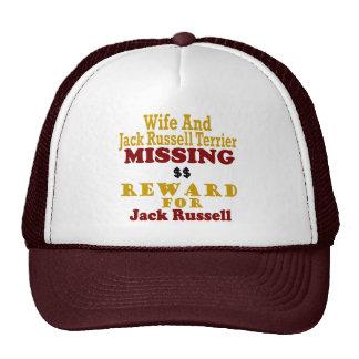 Jack Russell Terrier y recompensa que falta de la  Gorra