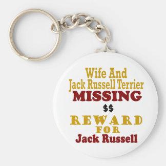 Jack Russell Terrier y recompensa que falta de la  Llaveros Personalizados