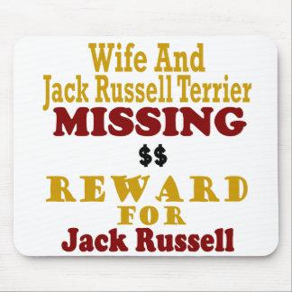 Jack Russell Terrier y recompensa que falta de la  Alfombrilla De Ratones
