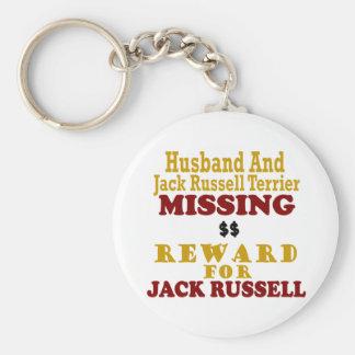 Jack Russell Terrier y recompensa que falta del ma Llavero