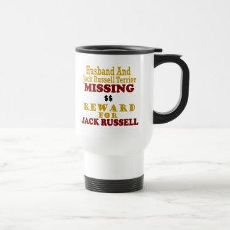 Jack Russell Terrier y recompensa que falta del ma Tazas De Café