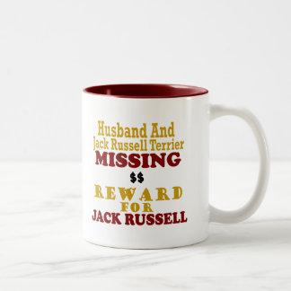 Jack Russell Terrier y recompensa que falta del ma Taza De Café