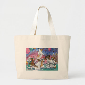 Jack Russell Terriers at a party Canvas Bags