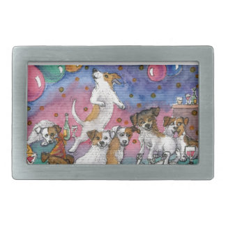 Jack Russell Terriers at a party Belt Buckles