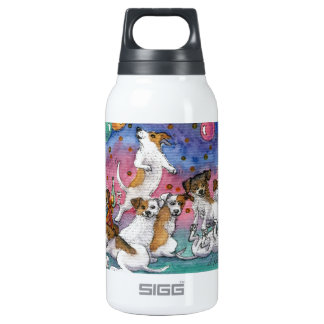 Jack Russell Terriers at a party Insulated Water Bottle