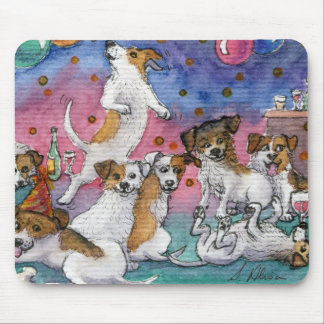 Jack Russell Terriers at a party Mouse Pad