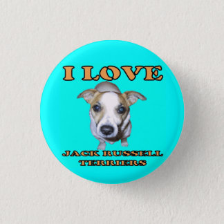 Jack Russell Terriers Button. Pinback Button