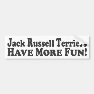 Jack Russell Terriers Have More Fun! -Bumper Stick Car Bumper Sticker