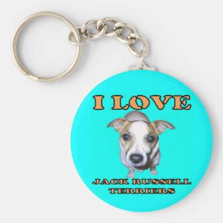 Jack Russell Terriers Keychain. Basic Round Button Keychain