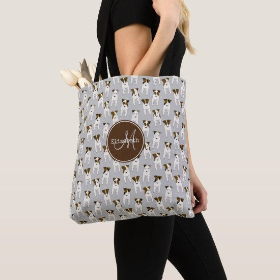 Jack Russell Terriers pattern lt gray or ANY color Tote Bag