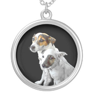 Jack Russell Terriers Silver Plated Necklace