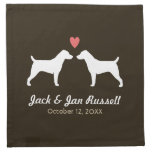 Jack Russell Terriers Wedding with Custom Text Cloth Napkins