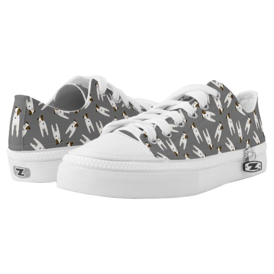 Jack Russell Terriers with head tilt pattern Low-Top Sneakers