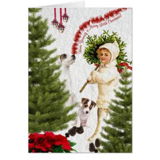 Jack Russell tiene usted mismo Felices Navidad Tarjeta De Felicitación