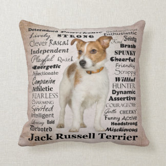 Jack Russell Traits Pillow