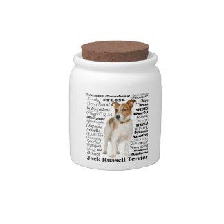 Jack Russell Traits Treat Jar Candy Jars
