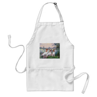 Jack Russell Trio - By the Seine Adult Apron