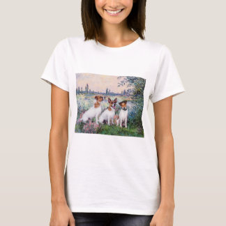 Jack Russell Trio - By the Seine T-Shirt