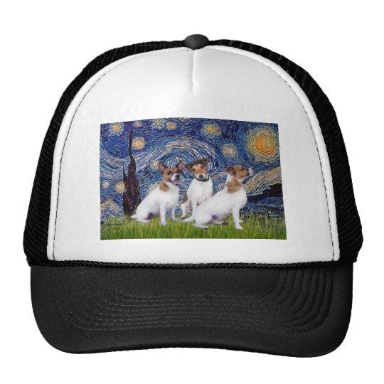 Jack Russell Trio - Starry Night Trucker Hat