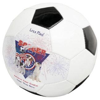 Jack Russell USA Flag Design Soccer Ball