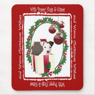 Jack Russell Warm Christmas Wishes Mouse Pad