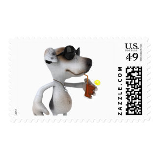 Jack Russell Wearing Sunglasses Postage
