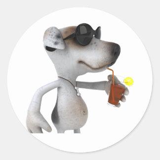 Jack Russell Wearing Sunglasses Stickers Round Sticker