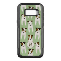 Jack Russell whimsical pattern monogrammed OtterBox Commuter Samsung Galaxy S8  Case