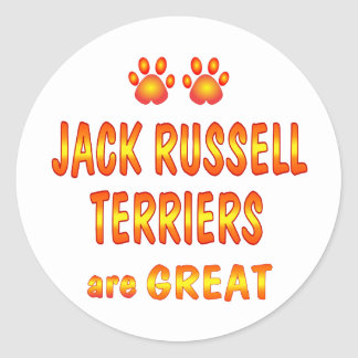 Jack Russells are Great Round Stickers