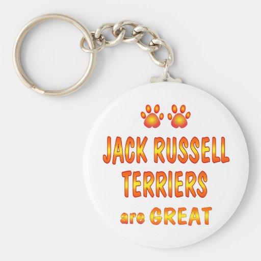 Jack Russells es grande Llavero Redondo Tipo Pin