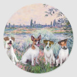 Jack Russells (four) - By the Seine Sticker