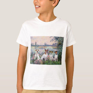 Jack Russells (four) - By the Seine T-Shirt