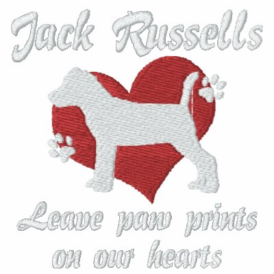 Jack Russells Leave Paw Prints Polo Shirt