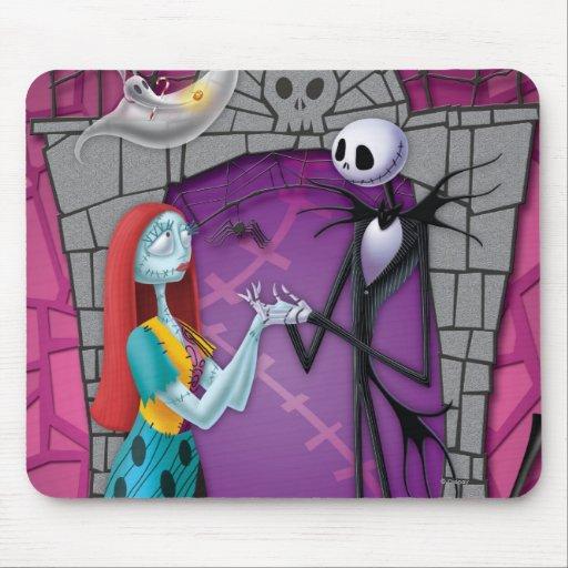 Jack, Sally, cero, y el alcalde de Halloweentown Tapete De Raton