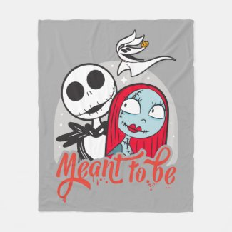 Jack & Sally | Meant to Be Fleece Blanket