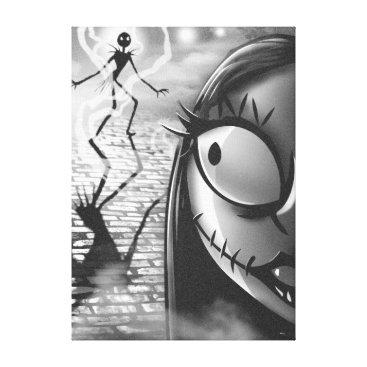 Halloween Themed Jack & Sally | Misfit Love Canvas Print