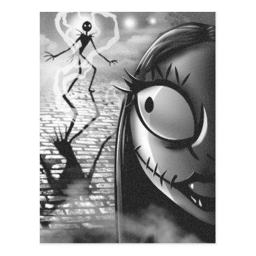 Halloween Themed Jack & Sally | Misfit Love Postcard