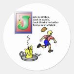 Jack sea ágil etiqueta redonda